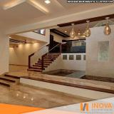 cristalização de piso de mármore em apartamento