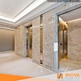 cristalização de piso de mármore para elevador