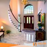 cristalização de piso de mármore para escada