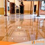 cristalização de piso de mármore rustico