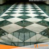 levigamento de piso de mármore verde