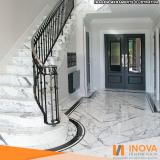 limpeza de piso de mármore branco Tatuapé