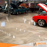 polimento de piso de mármore para garagem preço Anália Franco