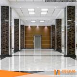 polimento de piso mármore claro Brooklin