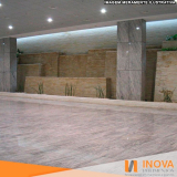 processo de hidrofugação de piso de mármore área externa Jardim Morumbi