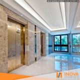 processo de levigamento de piso de mármore branco Fazenda Morumbi
