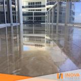 processo de levigamento de piso de mármore rústico Conjunto Residencial Butantã