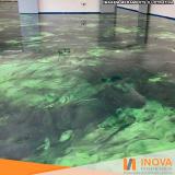 processo de levigamento de piso de mármore verde Lapa