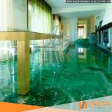 restauração de piso de mármore verde